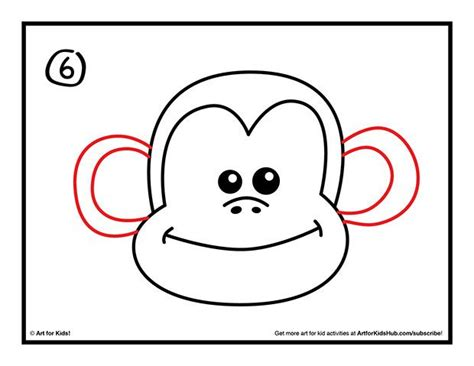 how to draw new year monkey easy monkey drawings