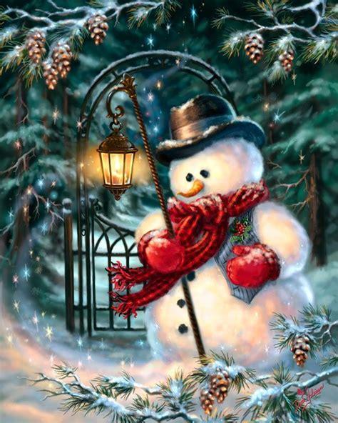 imagenes navideñas retro the enchanted christmas snowman navidad pinterest
