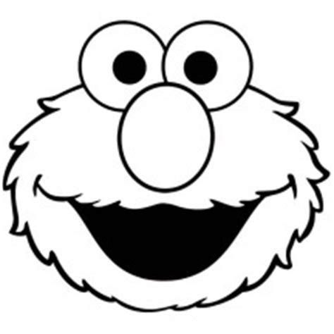 elmo head coloring pages cartoon anime characters netart part 5