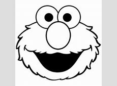 Cartoon & Anime Characters   NetArt - Part 5 Elmo Face Coloring Page