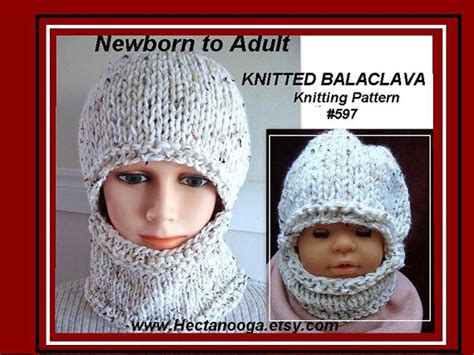 free easy knitting pattern for a balaclava knitting pattern hat easy balaclava or hat and cowl