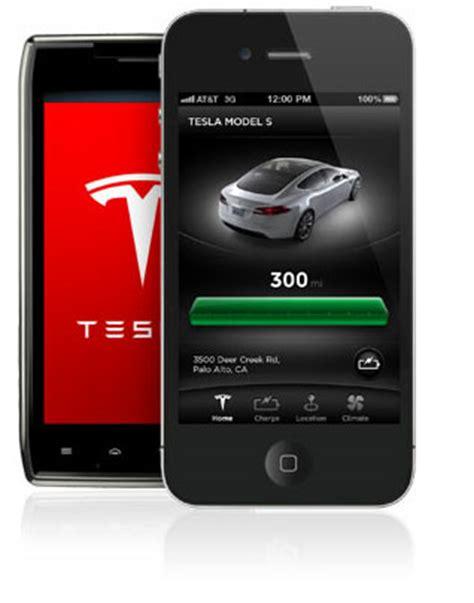 Tesla Model S App Inside Tesla Model S Lackiererei Elektroauto