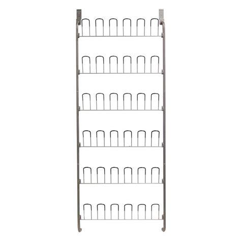 wire door organizer neu home 18 pair overdoor wire storage shoe rack in silver