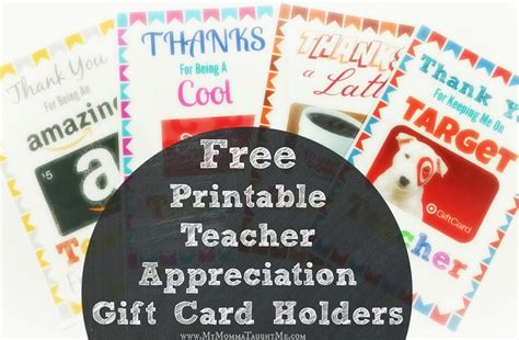 Bulk Amazon Gift Cards - free printable teacher appreciation gift card holders