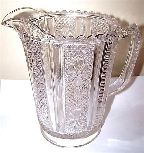 flower pattern glass pressed glass pitcher file flower pattern from