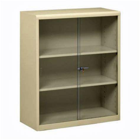 42 Quot H Steel Bookcase W Glass Doors By Tennsco Metal Bookcase With Glass Doors