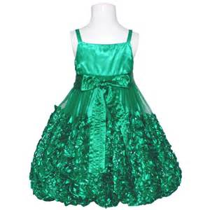 Green rosette christmas dress little girls 4 16 sophiasstyle com