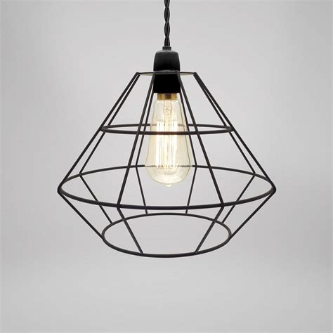 modern industrial pendant light modern industrial black white copper cage wire