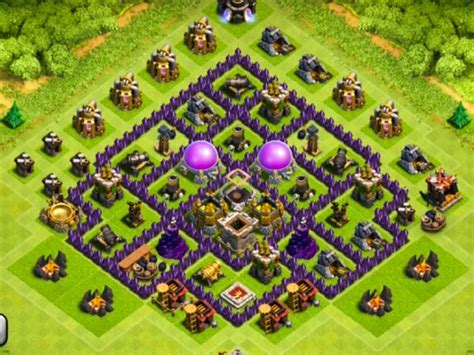 clash of clans strategy level 7 farming base design town hall clash of clans townhall defence march 2016