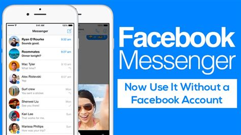 you can now use messenger app without a account