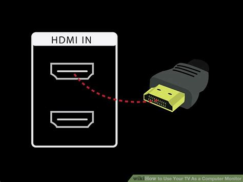 can you use an hdmi tv as a computer monitor 3 easy ways to use your tv as a computer monitor wikihow