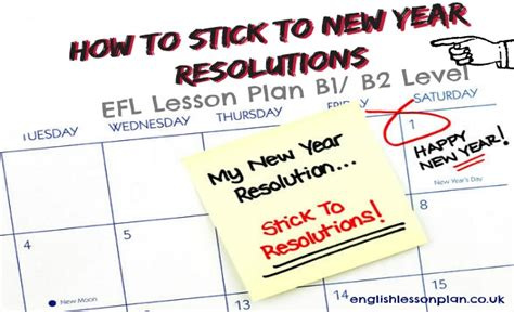 new year lesson plans esl how to stick to new year resolutions lesson plan