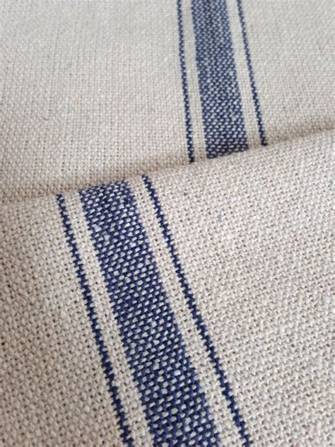 grain sack upholstery fabric grain sack fabric sold by the yard blue stripe vintage