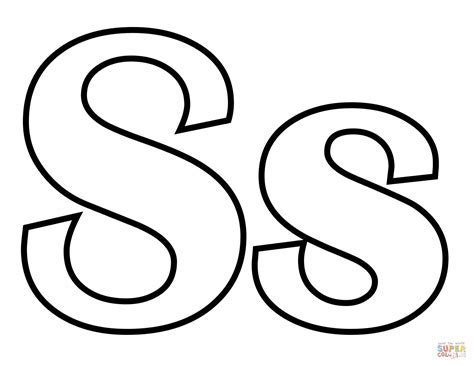 letter q coloring book - Dibujo de Letra S para colorear Dibujos ...