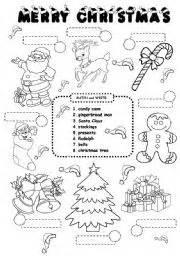 esl kids worksheets christmas worksheet