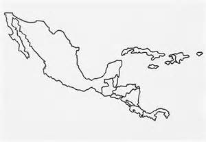 america blank outline map best photos of central america template blank central