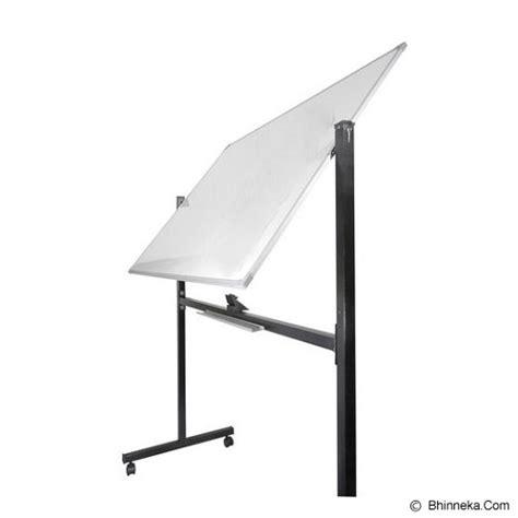 Whiteboard Standing Pakai Roda 1 Muka Papan Tulis Berdiri jual keiko whiteboard stand 90x120 murah bhinneka