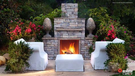 isokern outdoor fireplace with eldorado finishing