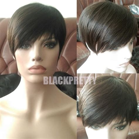 Free Wig Cutting With My New Hair And Trevor Sorbie by Pixie Cut Human Hair Wigs Rihanna Brown Cut