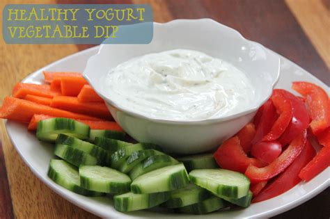 Yogurt My Healthy yogurt vegetable dip happy being healthy