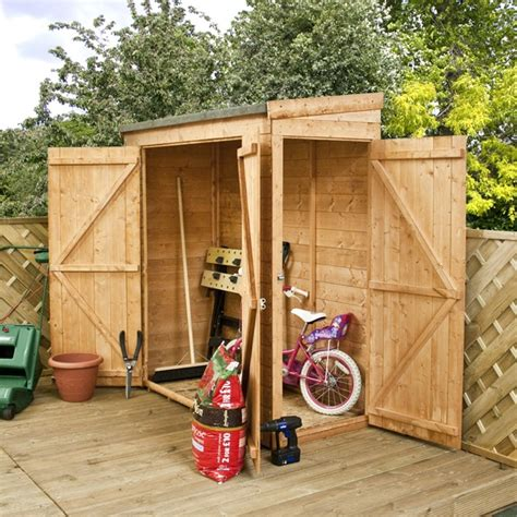 Garden Storage Sheds by Oko Bi Wooden Shed B Q Here