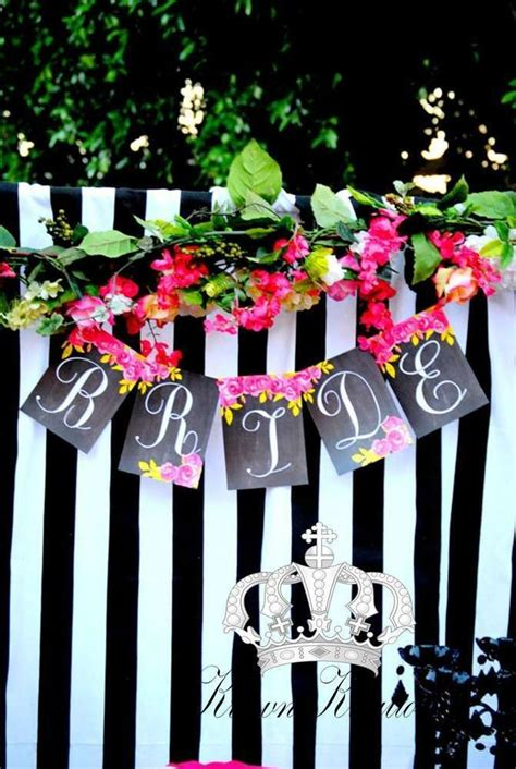 bridal shower decoration ideas black and white pink black and white bridal wedding shower ideas kate spade bridal bridal shower
