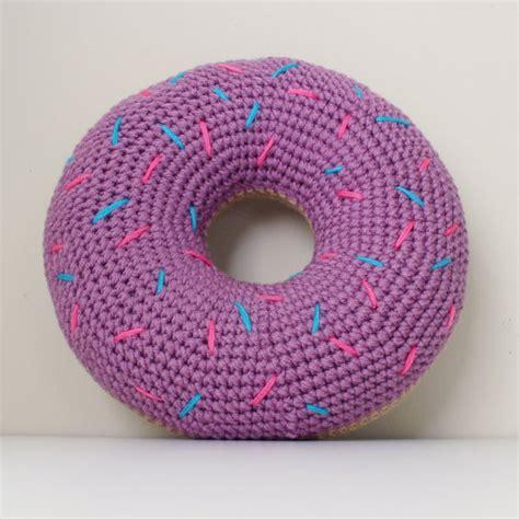 Donut Pillow For crochet donut pillow with sprinkles