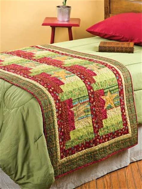 Patchwork Bed Runner Patterns - half log foot warmer this quilted stuff