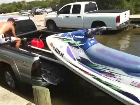 js boat transport launching jetski from truck bed youtube