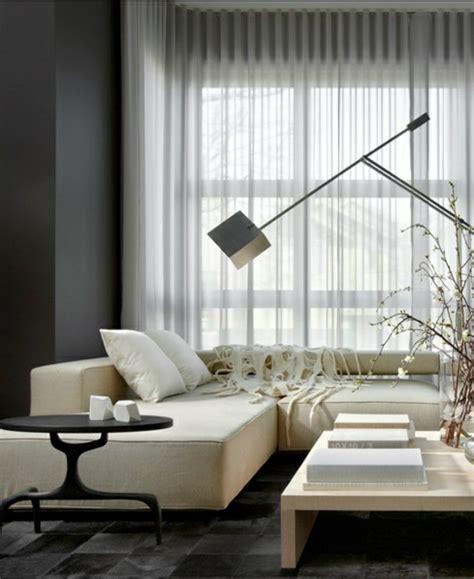 vorhänge modern 2016 wohnzimmer wei 223 braun