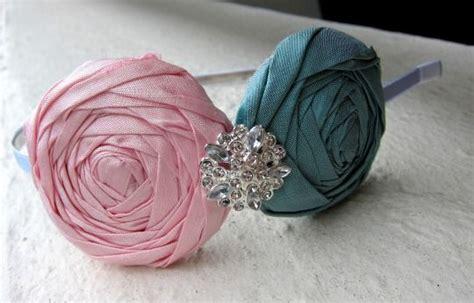 Handmade Rosettes - handmade fabric rosette i this style of