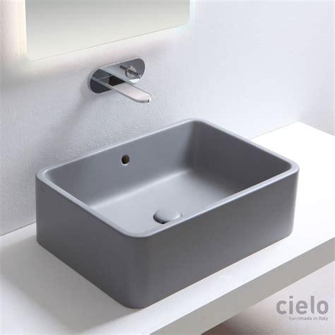lavandini bagno rettangolari lavabo da appoggio rettangolare 60 colorato brina shui
