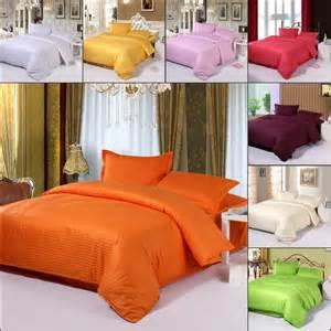 100 cotton orange streak bedding set twin queen king size