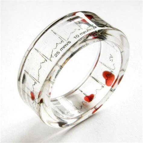 Resin Bangle EKG Love bracelet