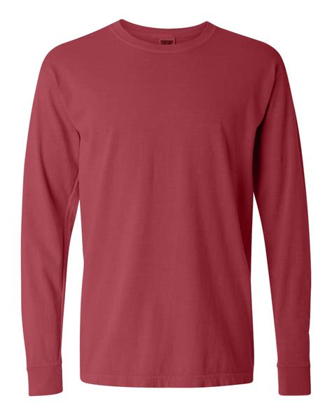 comfort color long sleeve comfort colors 6 1 ounce ringspun cotton long sleeve t