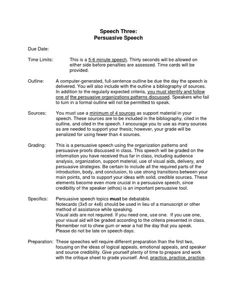 Persuasive Speech Introduction Sle 25 Best Ideas About Presentation Outline Sle