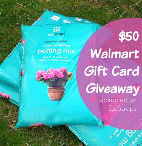 Walmart Giveaway - 50 walmart giftcard giveaway sponsored by ecoscraps frugal upstate