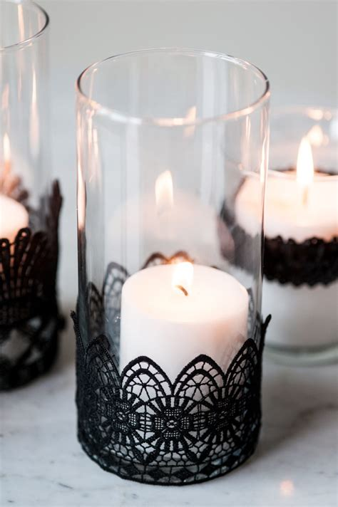 diy candles diy black lace candle holders the sweetest occasion
