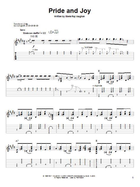 pride  joy  stevie ray vaughan guitar tab play  guitar instructor