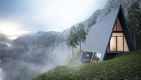 A Frame Style House The Triangle Cliff House Is A Spectacular Exle Of Geometry