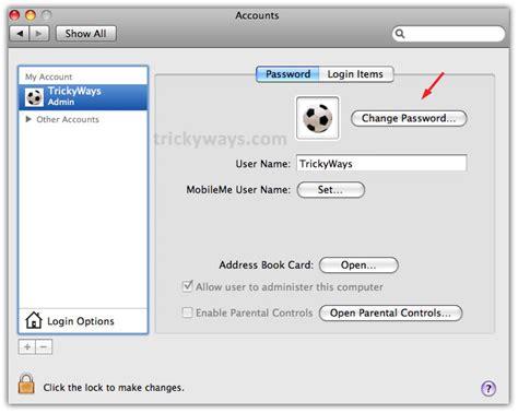 reset windows password mac how to change mac password mac os x