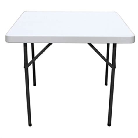 36 Inch Folding Table Square 36 Inch Folding Table With Gray Hdpe Plastic Top Fastfurnishings