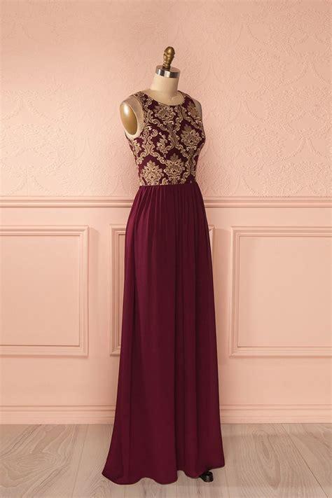 Makena Wine   Maxi dresses, Gold and Robe