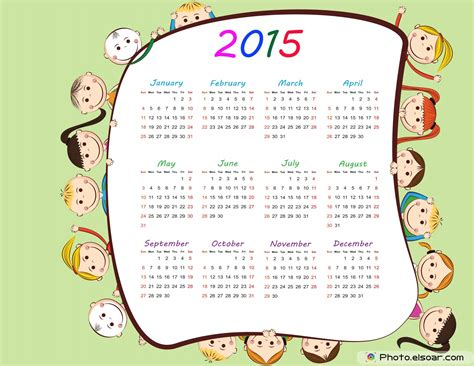 printable calendar 2015 cartoon free 2015 printable calendar for kids elsoar