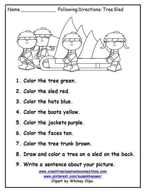 directions activity worksheet best 25 worksheets ideas on worksheets kindergarten