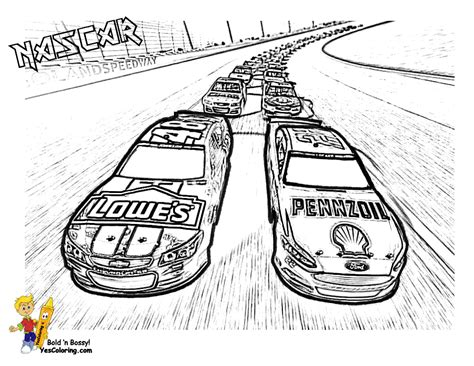 nascar coloring pages  sports fan