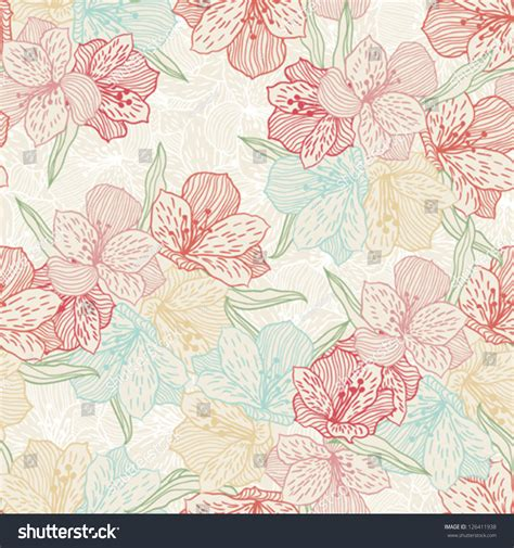orchid pattern vector abstract vintage seamless flower pattern orchid stock