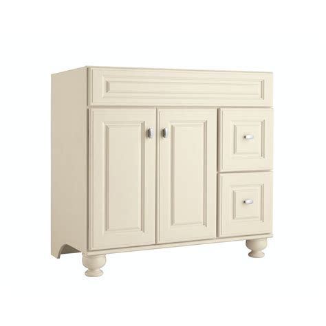 36 inch bathroom vanity lowes shop diamond freshfit britwell cream bathroom vanity