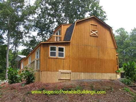garages by custom made wooden buildings s b carports inc 24x60x16 barn 1 866 943 2264