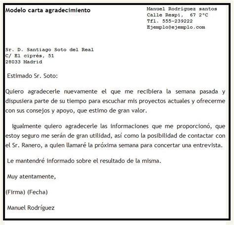 Carta De Agradecimiento Por Gestion Realizada Modelos De Cartas De Agradecimiento